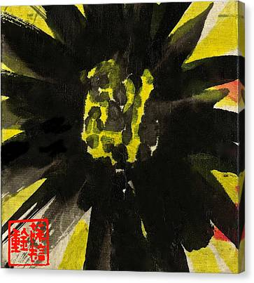 Canvas Print featuring the painting Asian Sunflower by Joan Reese