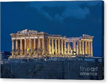 Athens Acropolis Parthenon Canvas Print by Borislav Stefanov