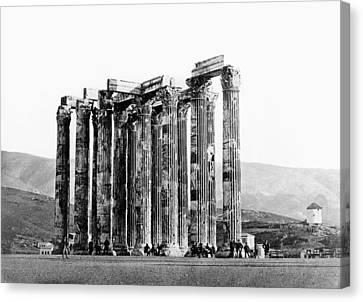 Athens Olympian Zeus Canvas Print by Granger