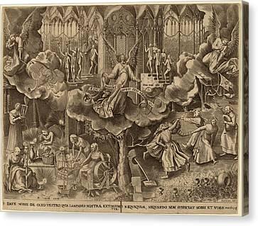 Attributed To Philip Galle After Pieter Bruegel The Elder Canvas Print