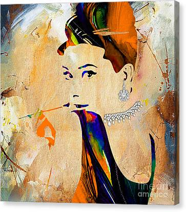 Audrey Hepburn Diamond Collection Canvas Print