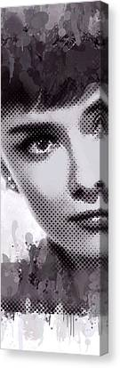 Audrey Canvas Print by Steve K
