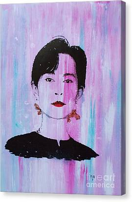 Aung San Suu Kyi Canvas Print by Roberto Prusso