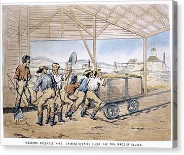 Australia Gold Mine, 1867 Canvas Print