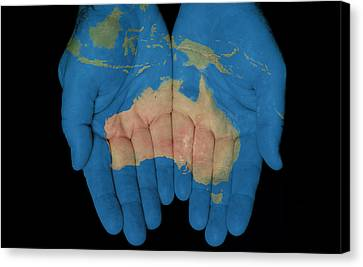 Australia In Our Hands Canvas Print