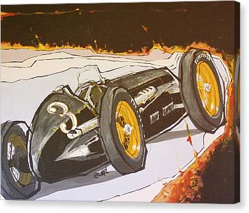 Automobile Racing Canvas Print by Paul Guyer