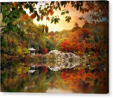 Autumn At Hernshead Canvas Print by Jessica Jenney