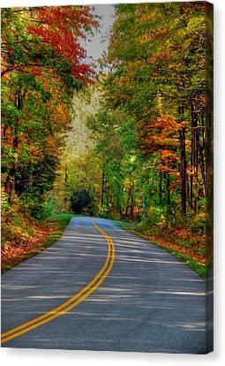 Canvas Print featuring the digital art Autumn Drive by Kelvin Booker