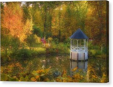 Autumn Gazebo Canvas Print by Joann Vitali