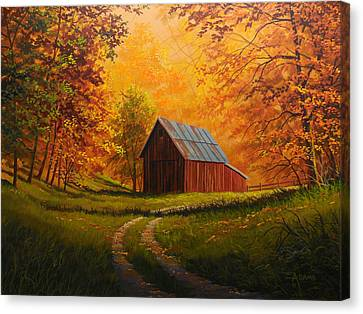 Autumn Glow Canvas Print by Gary Adams