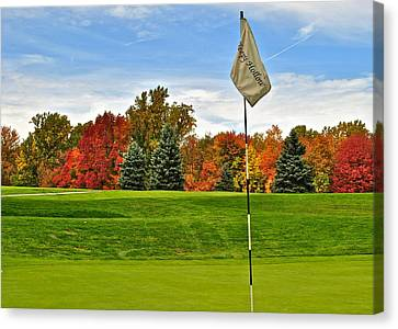Marvelous View Canvas Print - Autumn Golf by Frozen in Time Fine Art Photography