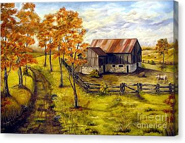Autumn Shadows Canvas Print by Anna-Maria Dickinson