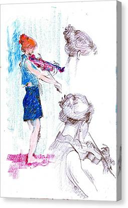 B02. Development Of Figures Canvas Print