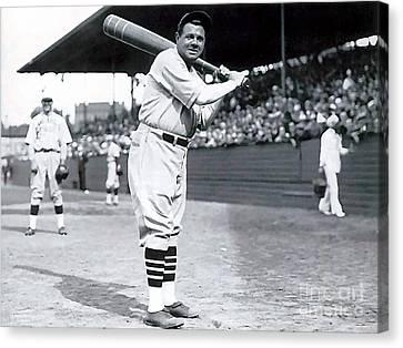 Babe Ruth Canvas Print - Babe Ruth by Marvin Blaine