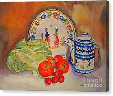 Canvas Print featuring the painting Back From Market by Beatrice Cloake