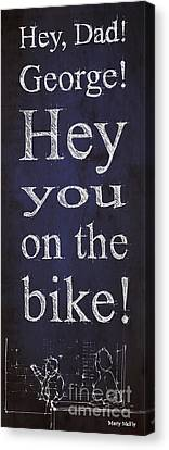 Back To The Future.hey Dad George Hey You On The Bike Canvas Print by Pablo Franchi