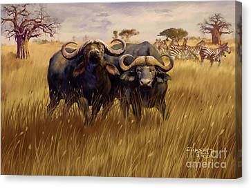 Canvas Print featuring the digital art 2 Bad Duga Boys  by Rob Corsetti