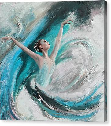 Ballet Dancers Canvas Print - Ballerina  by Corporate Art Task Force