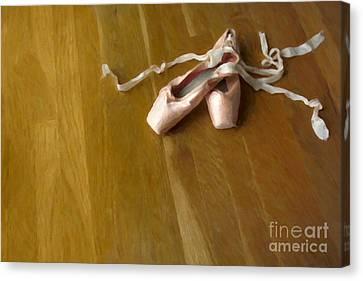 Ballet Slippers Canvas Print - Ballet Slippers by Diane Diederich