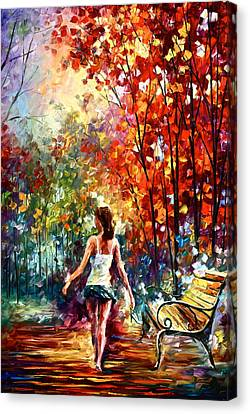 Barefooted Stroll Canvas Print by Leonid Afremov