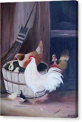 Barnyard Canvas Print by Glenda Barrett