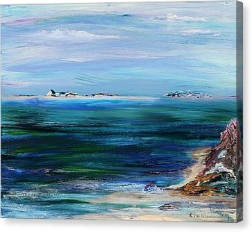 Barrier Islands Canvas Print by Regina Valluzzi