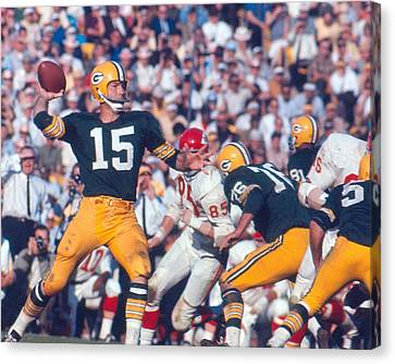 Bart Starr By Art Rickerby Canvas Print