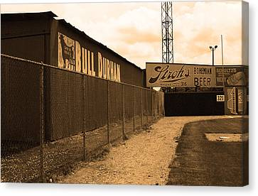 Baseball Field Bull Durham Sign Canvas Print by Frank Romeo