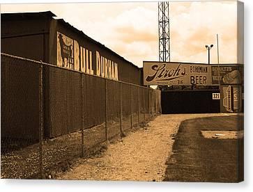 Negro Leagues Canvas Print - Baseball Field Bull Durham Sign by Frank Romeo