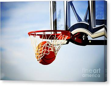 Basketball Shot Canvas Print by Lane Erickson