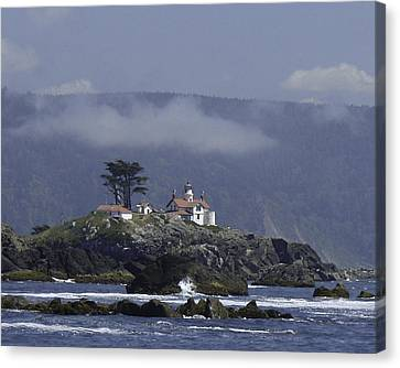 Canvas Print featuring the photograph Battery Point Lighthouse by Betty Depee