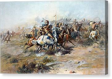Battle Of Little Bighorn Canvas Print