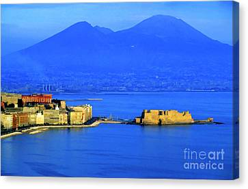 Bay Of Naples Canvas Print by Sami Sarkis
