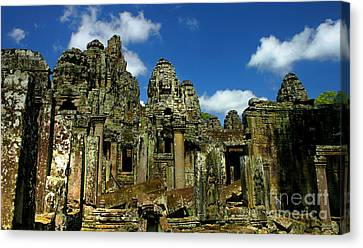 Canvas Print featuring the photograph Bayon Temple by Joey Agbayani