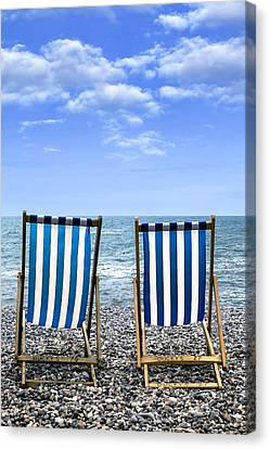 Beach Chairs Canvas Print by Joana Kruse
