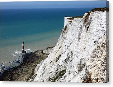Beachy Head Cliffs And Lighthouse  Canvas Print by James Brunker