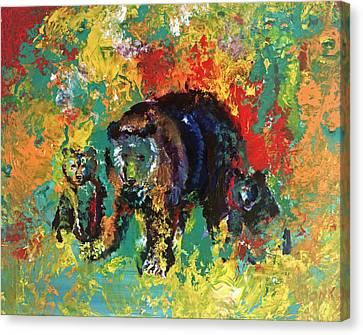 Bear Family Canvas Print by Peter Bonk