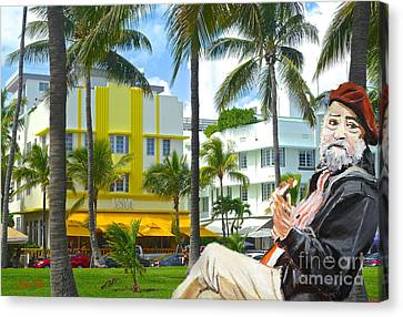 Beat Of Miami Canvas Print by Judy Kay