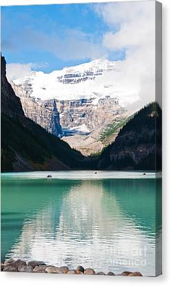 Canvas Print featuring the photograph Beautiful Lake Louise by Cheryl Baxter