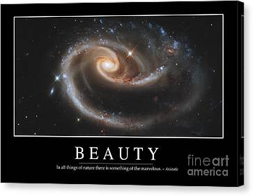 Beauty Inspirational Quote Canvas Print by Stocktrek Images