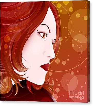 Bella Donna II Canvas Print by Sandra Hoefer