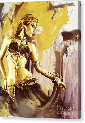 Abstract Belly Dancer 18 Canvas Print by Corporate Art Task Force