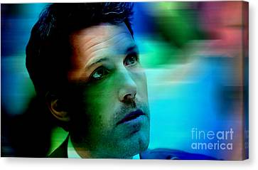 Ben Affleck Canvas Print by Marvin Blaine