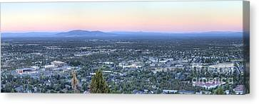 Bend From Pilot Butte In Evening Canvas Print by Twenty Two North Photography