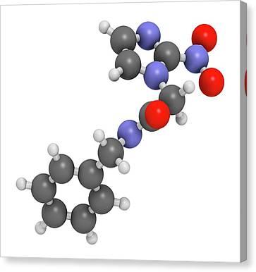 Benznidazole Antiparasitic Drug Molecule Canvas Print by Molekuul