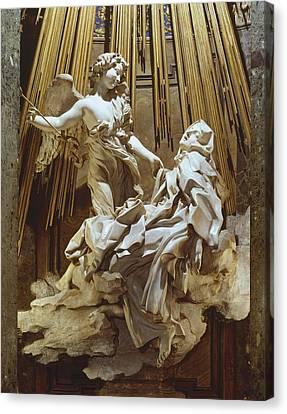 Jesus Canvas Print - Bernini, Giovanni Lorenzo 1598-1680 by Everett