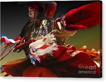 Canvas Print featuring the digital art Bhutanese Festival by Angelika Drake
