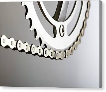 Bicycle Chain And Crank Canvas Print by Science Photo Library