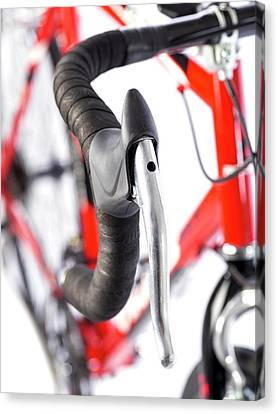 Bicycle Handlebars Canvas Print by Science Photo Library