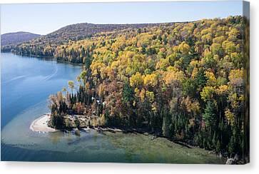 Big Cedar Lake. Quebec Canvas Print by Rob Huntley